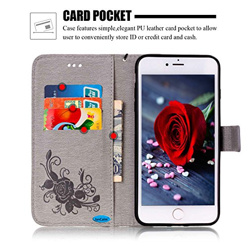 iPhone 8 Case, iPhone 8 Wallet Case, iPhone 7 Case, JanCalm [Wrist Strap] Premium PU Leather [Multi  - http://coolthings.us