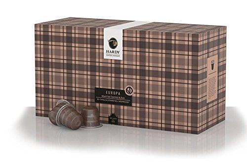 Caffé Hardy Italy 60 Pods for Nespresso OriginalLine (Very Dark and Balanced) – Authentic Italian Espresso since 1954 (Europa, 60 Compatible Capsules) ()