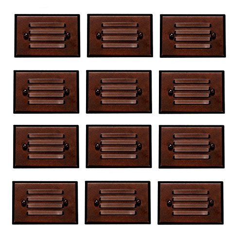 12 Pack Malibu 8406-2403-12 LED Half Brick Outdoor Deck Step Light Oil Rubbed Bronze Finish BY MALIBU DISTRIBUTION by Malibu C