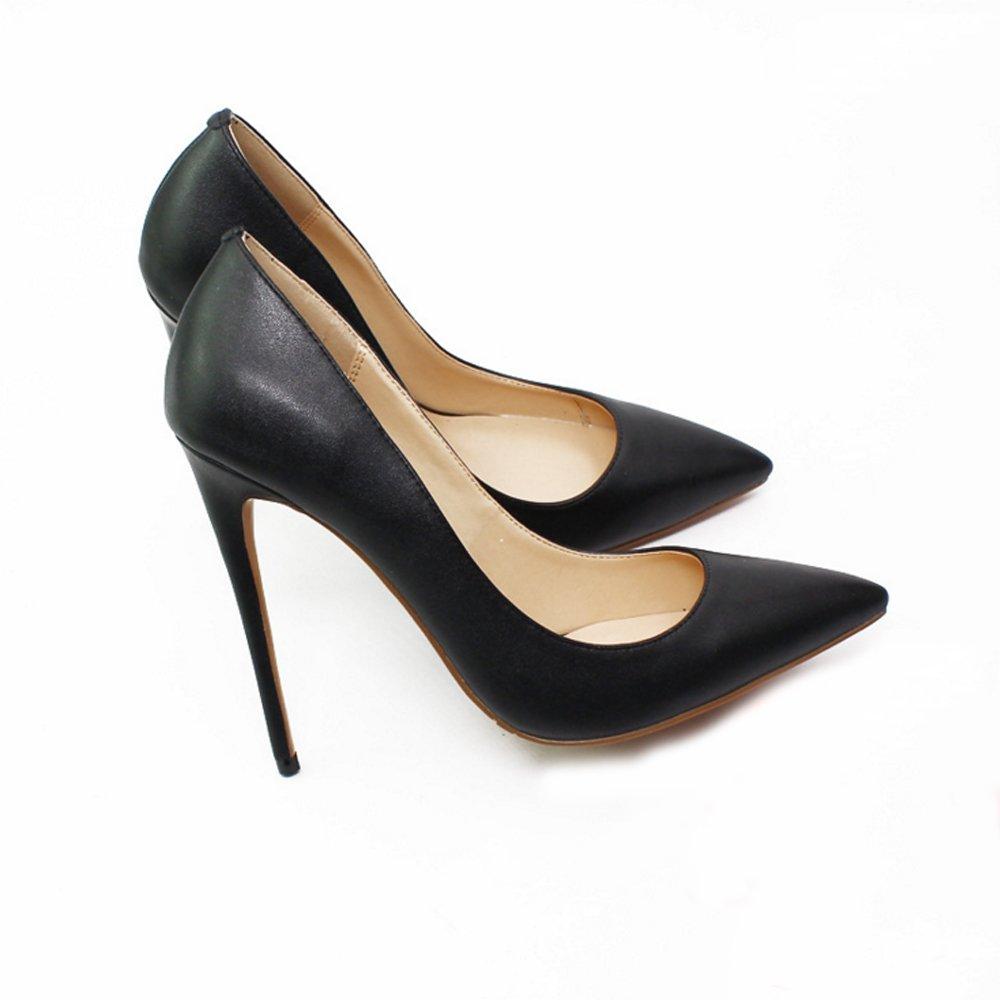JIANF Damen Leder High Heels Abendessen Schuhe Büro Schuhe Temperament Damenschuhe Einfache Modische Frühlingsschuhe