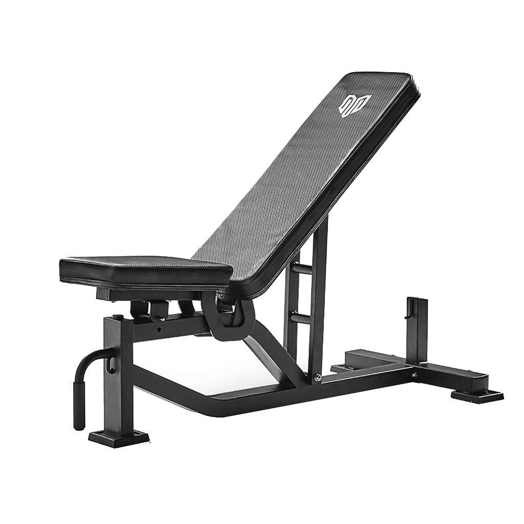 トレーニングベンチ 調節可能ウエイトベンチ 腹筋台 ベンチプレス ダンベルベンチフィットネス機器 ジム 耐荷重300kg 筋力トレーニング (Color : 黒, Size : 136.2*64.4*43.9cm) 黒 136.2*64.4*43.9cm