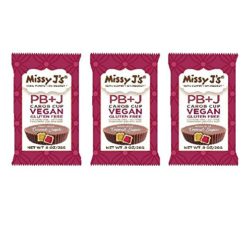 Missy J's Peanut Butter And Jelly Carob Vegan & Gluten Free Cups - .9 Oz. (Pack of 12)