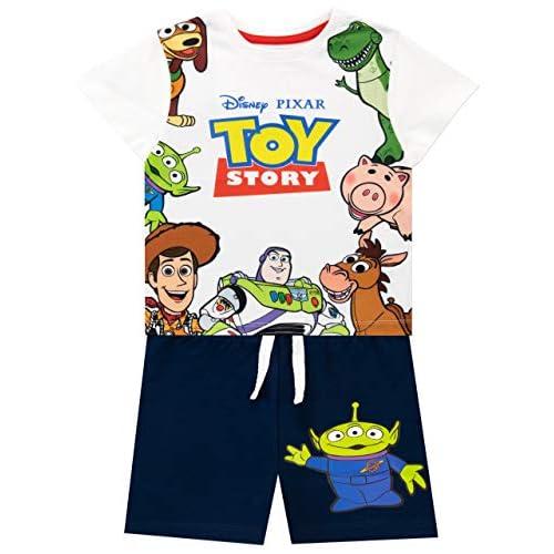 516nYicVE6L. SS500 Conjunto para niños de Toy Story de Disney. ¡Viaja hacia el infinito y más allá con este conjunto de Toy Story que trae a los clásicos personajes de la caja de juguetes de Andy! Frente: 100% Poliéster Resto: 100% Algodón