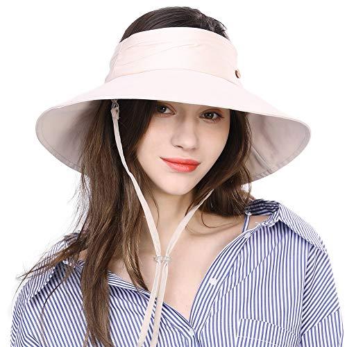 Siggi Womens UPF50+ Summer Sunhat Bucket Packable Wide Brim Hats w/Chin Cord