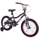 Dynacraft Monster High Girl's Bike, 18-Inch, Black/Purple/Pink