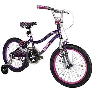 """Dynacraft Monster High Girls BMX Street/Dirt Bike 18"""", Black/Purple/Pink"""