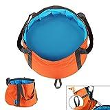 MAZIMARK--6-10L Foldable Wash Bag Basin Bucket Pot Sink for Camping Travel Hiking Orange