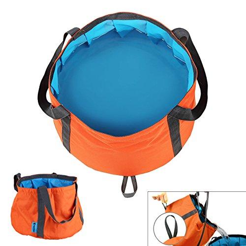MAZIMARK--6-10L Foldable Wash Bag Basin Bucket Pot Sink for Camping Travel Hiking Orange by MAZIMARK