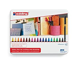 edding 1200 Colourpen Extra Fine Bullet Tip Pack of 20 - Assorted