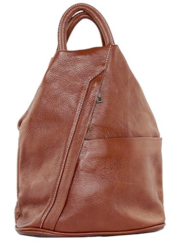 Italian School Brown Daypack Moda Rucksack Daniela Leather Handbag Cavalieri Backpack Bag R1EUwqnx
