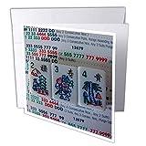 "3dRose gc 12757 1 6 x 6-Inch ""Flowers for Mah Jongg"" Greeting Card"