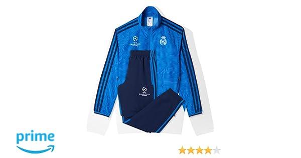 adidas Real Madrid CF EU PR SU Y - Chándal para niños: Amazon.es: Deportes y aire libre