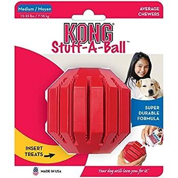 KONG Stuff-A-Ball Dog Toy, Medium, Red