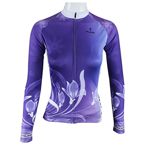 95dfae37e KMFEEL Women Quick Dry Sports T Shirt Long Sleeve Breathable Floral Cycling  Jersey