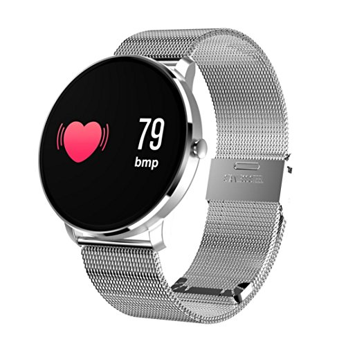 Price comparison product image Boofab Fitness Tracker Blood Pressure Heart Rate Monitor Activity Tracker Bluetooth Wireless Smart Watch CF007H (WHITE)