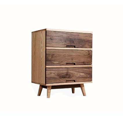 Amazon Com Sun Huijie Black Walnut Bedside Cabinet Bedside Table