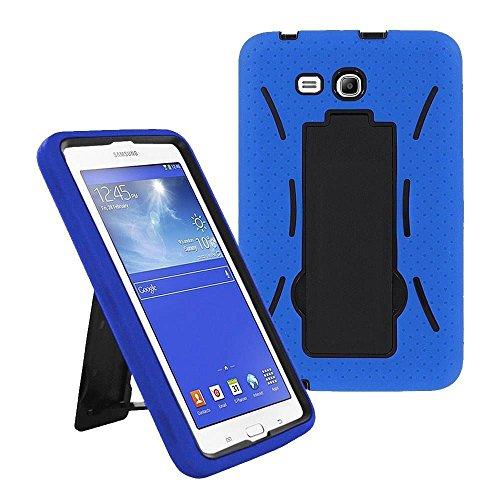 Galaxy Tab A 7.0 Case by KIQ (TM) Heavy Duty Hybrid Silicone Skin Hard Plastic Case Cove for Samsung Galaxy Tab A 7 T280 - Black / Blue