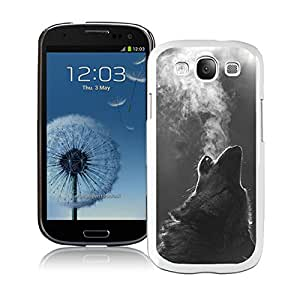 Winter Wolf Howling Samsung Galaxy S3 i9300 Case White Cover
