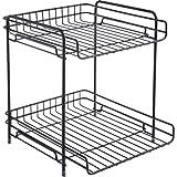 Rart Metal Mesh Desk Organizer,Multi-Layer Storage Rack Display Shelves Makeup Storage Box Fashion Book Shelf Storage Rack