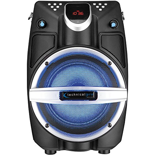 """TECHNICAL PRO 6.5"""" Powered Bluetooth PA System with Mic &..."""