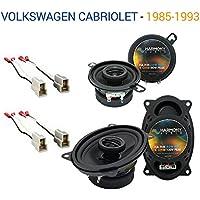 Volkswagen Cabriolet 1985-1993 OEM Speaker Upgrade Harmony Speakers Package New
