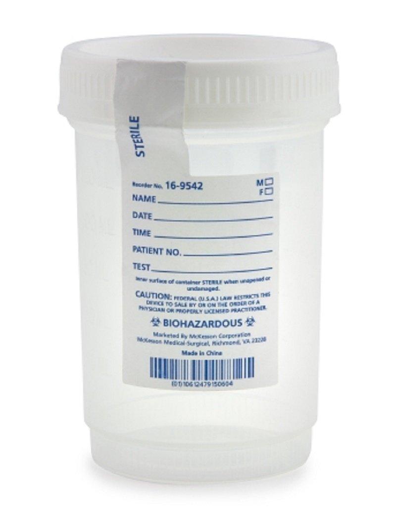 Specimen Container Medi-Pak Polypropylene / Polyethylene Screw Cap 120 mL (4 oz.) Sterile -75 Bag