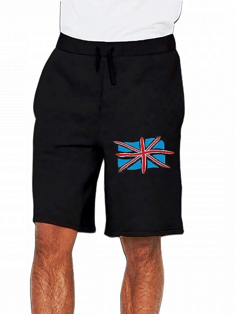 JiJingHeWang Grossbritannien Flagge Zerfetzt Mens Casual Shorts Pants