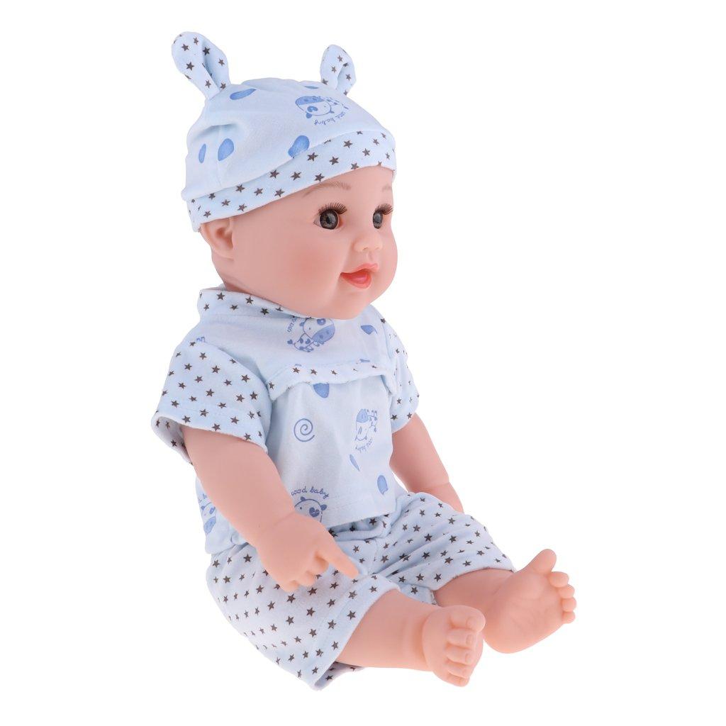 Homyl 50cm Vinyl Silikon Babypuppe Junge   Mädchen Puppe mit Kleidung für Kinder Rollespiel, Funktionspuppe als Lehrmittel - Junge Puppe - 3 B07FFKQY5C Babypuppen Starke Hitze- und AbnutzungsBesteändigkeit  | Zu einem erschwinglichen Preis