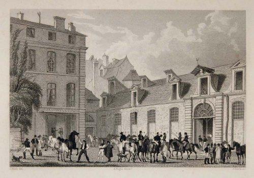 1831-poste-royale-mail-horses-rue-de-labbaye-paris-copper-engraving