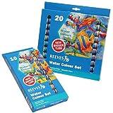 Reeves 20-Pack Water Color Tube Set, 22ml