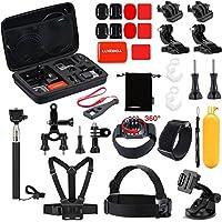 Kit de accesorios de cámara para deportes al aire libre Luxebell para Gopro Hero 6 5 Sesión 4 3 2 Sjcam DBPOWER AKASO Apeman Xiaomi Yi