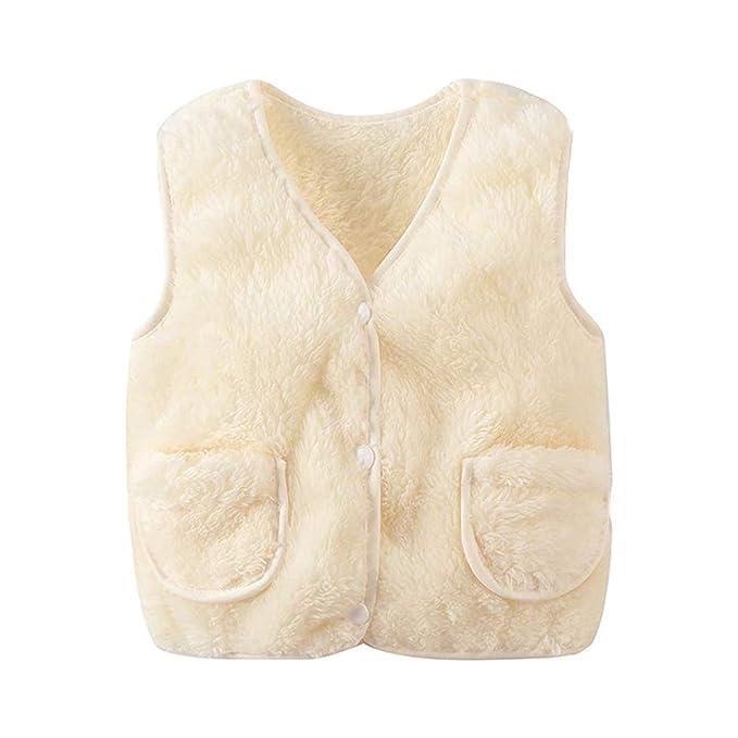 8cc43d669229 BOZEVON Toddler Kids Baby Girl Faux Fur Gilet - Winter Warm ...