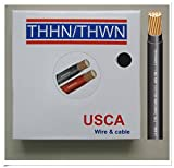 USCA Stranded THHN/THWN 12 AWG Building Wire, 500 FT, Black,600 Volt, 90C