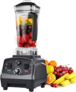 YLOVOW 3HP 1650W Heavy Duty Commercial Grade Automatic Timer Blender Mixer Juicer Fruit Food Processor Ice Smoothies BPA Free 2L Jar
