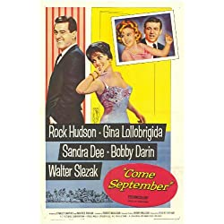 Come September Poster Movie 11x17 Rock Hudson Gina Lollobrigida Sandra Dee Bobby Darin
