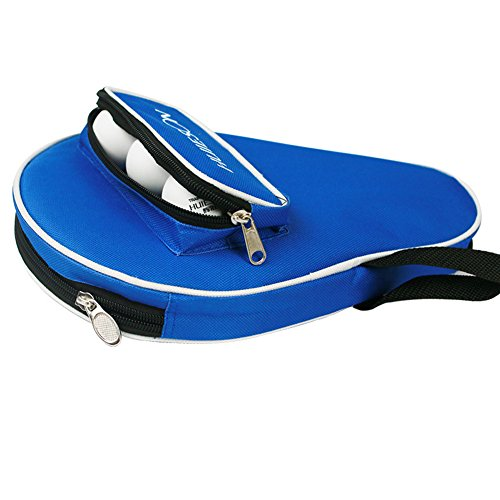 seemehappy Smart Table Tennis Racket Cover Case with Extra Ball Pocket Blue by seemehappy