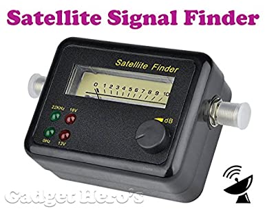 Gadget Hero's Analog Satellite Signal Finder for Dish Network/Direct  TV/Satellite TV (Black)