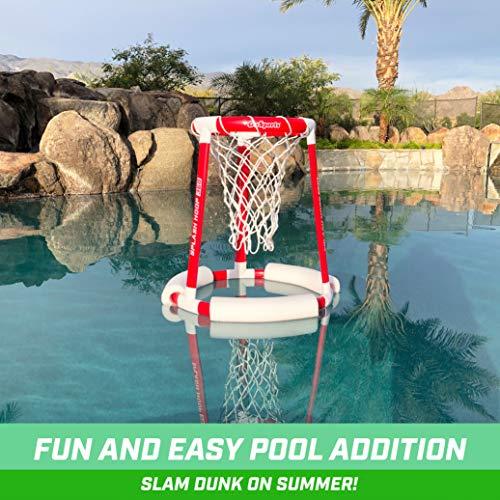 516ndDSYoNL - GoSports Splash Hoop 360 Floating Pool Basketball Game | Includes Water Basketball Hoop, 2 Balls and Pump