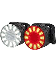 Bike Lights Set, USB Rechargeable Bike Headlight and Tailight Combinations, LED Waterproof Bicycle Front Lights, 6 Brightness Mode, Ideal for Mountain or Road Bikes