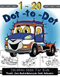 img - for 1-20 Dot to Dot coloring book for kids Trucks,Cars,Motorcycle,Yacht,Helicopter: Children Activity Connect the dots,Coloring Book for Kids Ages 2-4 3-5 book / textbook / text book