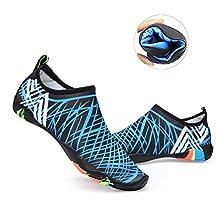 Unisex Upgraded Quick-Dry Aqua Socks Water Shoes with 14 Drainage Holes for Beach Swim Surf Yoga Water Aerobics
