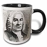 Danita Delimont - Engravings - Engraving of Bach, German composer, Historical Art - HI12 PRI0216 - Prisma - 11oz Two-Tone Black Mug (mug_83019_4)