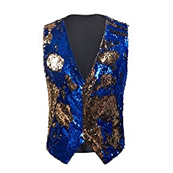Men's Double-Sided Sequins Waistcoat