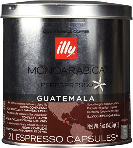 Illy iperEspresso MonoArabica Guatemala Capsules Medium-bodied Coffee, 21-Count (21 Count Capsules)