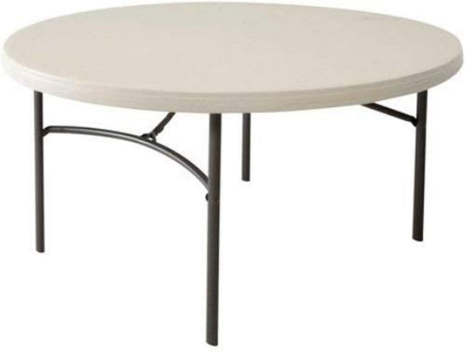 - Lifetime 80121 60-Inch Round Commercial Folding Table - Almond