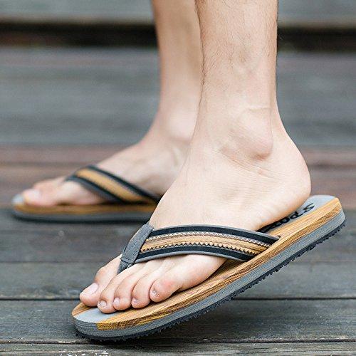 DHGH Summer men's casual fashion trend flip flops sandals Black