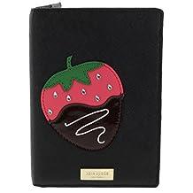 Kate Spade Imogene Chocolate Dipped Strawberry Passport Holder Cover Black