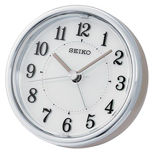 Seiko QHE115P Bedside Alarm Clock, White