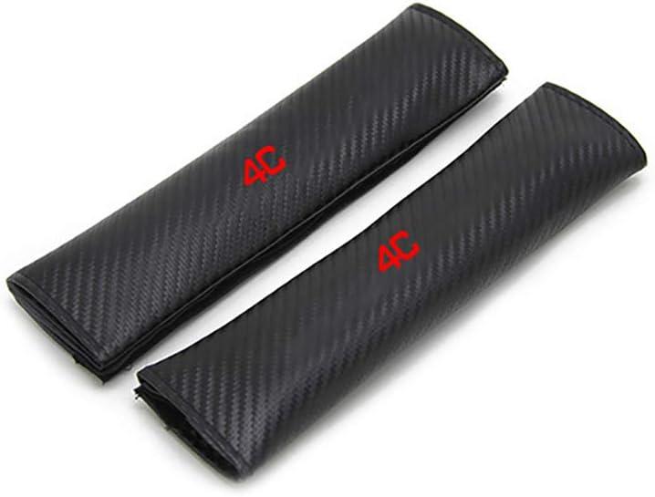 Protector Safety Pads Auto-Styling-Innenzubeh/ör aus Kohlefaser 2Pcs f/ür Alfa Romeo 4C Car Seat Belt Cover Shoulder Padding ASDDD Autositzgurtbezug Schulterpolsterung Gurtpolster