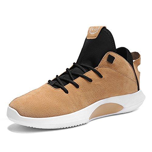 Freizeitschuhe Leichte Schuhe Männer Sport up Laufschuhe Comfort Schuhe Schuhe Atmungsaktive MUOU Herren Lace Gelb Männer Sneaker gYEqq8w